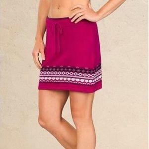 Athleta Pink Fair Isle Dasher Sweater Skirt XXS